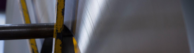 Macro Aufnahme einer Metallprofil Rolle