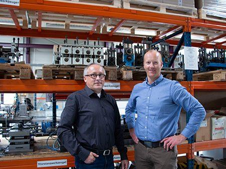 Begrüßen Sie unsere neue Geschäftsführung der Engel Präzisionsprofile GmbH! Auf dem Bild zu sehen: links Martin Orlik rechts Tobias Schimpf